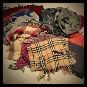 Bundle of 16 oversized scarves